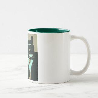SillyKitty Megumiのポートレートのマグ ツートーンマグカップ