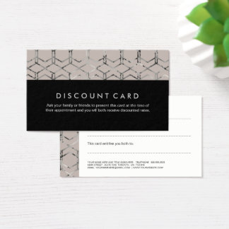 Silver Geometric Discount Cards 名刺