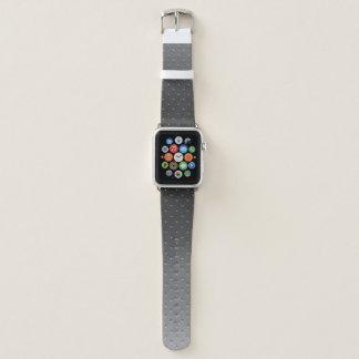 Silver Gray Gradient Faux Metal Pattern Apple Watchバンド