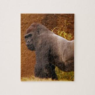 Silverbackのゴリラの写真のパズル ジグソーパズル