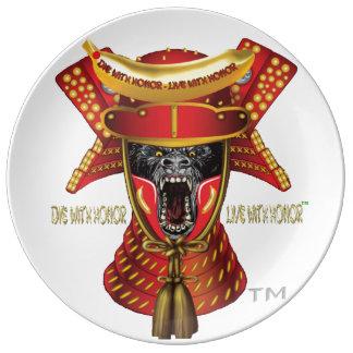 SILVERBACKの武士STUDIOS™の磁器皿 磁器プレート