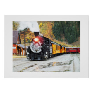 Silvertonの蒸気の列車 ポスター