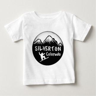 Silvertonコロラド州の芸術的なスキーヤー ベビーTシャツ