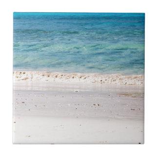 Similanの白い砂のビーチおよび青緑の海 タイル