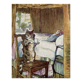 Simpkinは猫茶に役立ちます ポスター