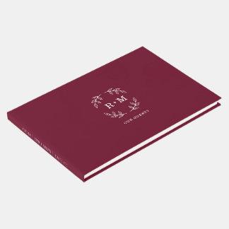 Simple Burgundy Wedding Guestbook ゲストブック