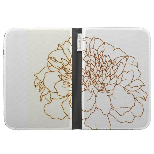Simple Floral Marigold Kindle 3Gケース
