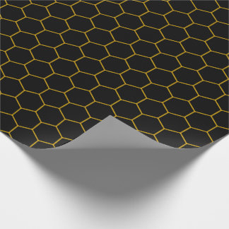 Simple honeycomb pattern with dark background ラッピングペーパー