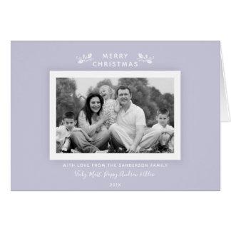 Simple Minimal Modern Lilac Purple Holiday Photo カード