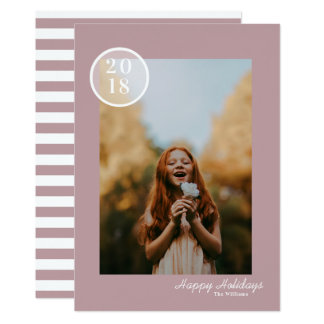 Simple & Modern Holiday Photo Card カード