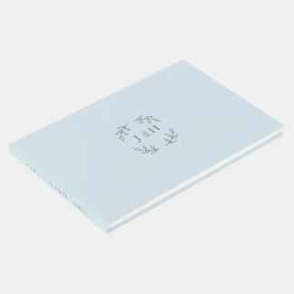 Simple Monogram Wedding Guestbook ゲストブック