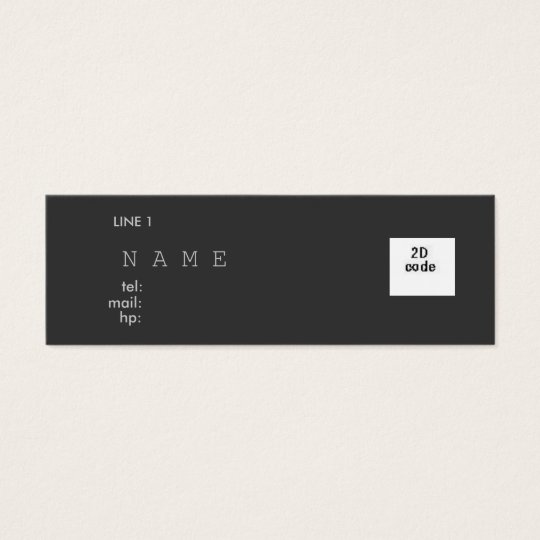 SIMPLE NAME CARD WITH 2D スキニー名刺