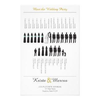 Simple Silhouettes Wedding Program チラシ