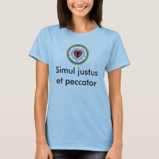 Simulのjustusとpeccator Tシャツ