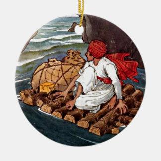 Sinbad船員の難破の宝物イラストレーション セラミックオーナメント