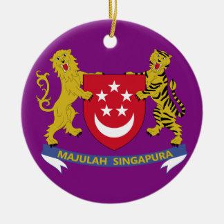 Singapore*の頂上か旗のクリスマスのオーナメント セラミックオーナメント
