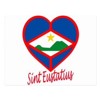 Sint Eustatiusの旗のハート ポストカード