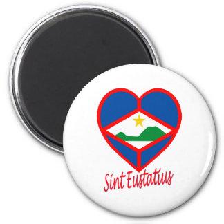 Sint Eustatiusの旗のハート マグネット