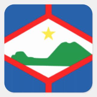Sint Eustatiusの旗 スクエアシール