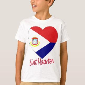Sint Maartenの旗のハート Tシャツ