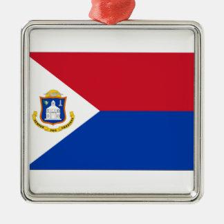 Sint Maartenの旗 メタルオーナメント