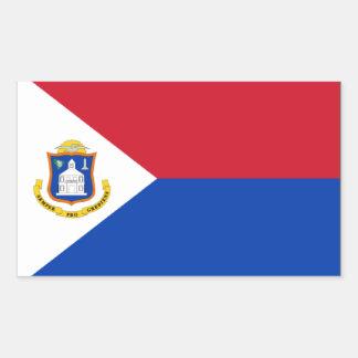 Sint Maartenの旗 長方形シール