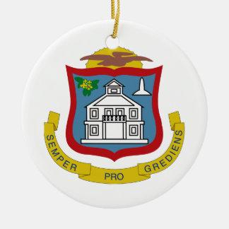 Sint Maartenの紋章付き外衣 セラミックオーナメント