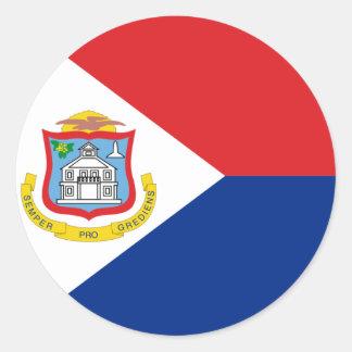 Sint Maarten、セントマーチンの旗、オランダまたはオランダ ラウンドシール