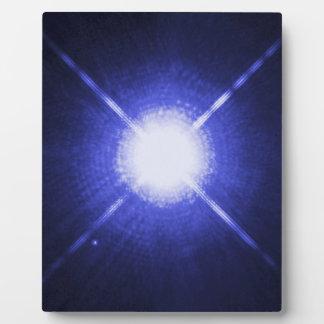 Sirius AおよびB明るい夜星 フォトプラーク