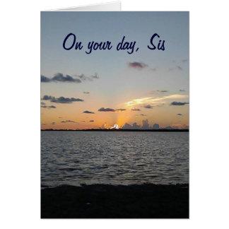 SIS -日の出からSUNSET=FANTASTICの誕生日への カード