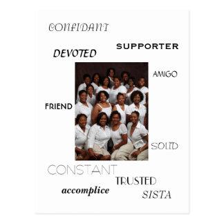 SISTAの友人、友達、信頼できる友、サポータ、acc… ポストカード