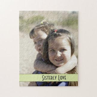 Sisterly愛、女の子の乗馬の姉妹のピギーバックのパズル ジグソーパズル