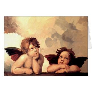 Sistineマドンナの天使Raffaelo Sanzio カード