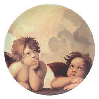 Sistineマドンナの天使Raffaelo Sanzio プレート