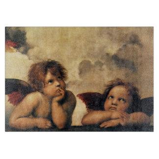 SistineマドンナのRaphaelによる天使の詳細 カッティングボード