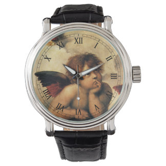 SistineマドンナのRaphaelによる天使の詳細 腕時計