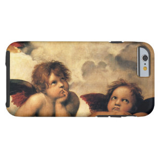 SistineマドンナのRaphaelによる天使の詳細 iPhone 6 タフケース