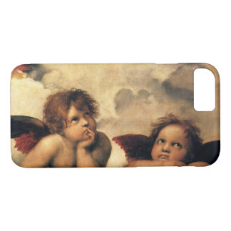 SistineマドンナのRaphaelによる天使の詳細 iPhone 8/7ケース