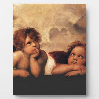 SistineマドンナRaphaelによる2つの天使 フォトプラーク