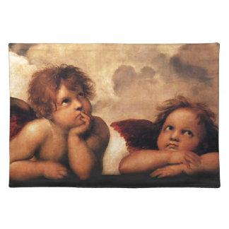 SistineマドンナRaphaelによる2つの天使 ランチョンマット