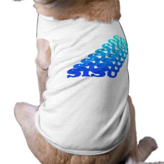 SISUの~の共鳴の単語の北欧の青いペットは上を越えます ペット服