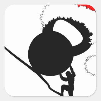Sisyphus Kettlebellのメリークリスマス スクエアシール