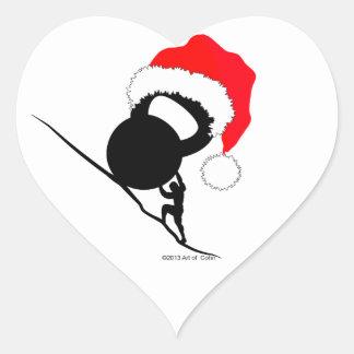 Sisyphus Kettlebellのメリークリスマス ハートシール