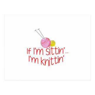 Sittin及びKnittin ポストカード
