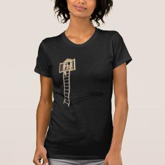 SittingLadderToShutteredWindow090312.png Tシャツ