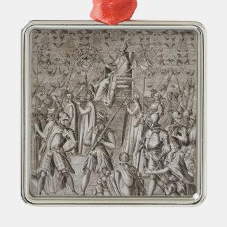 Sixtus V (1521-90年)法皇は式に運ばれます メタルオーナメント