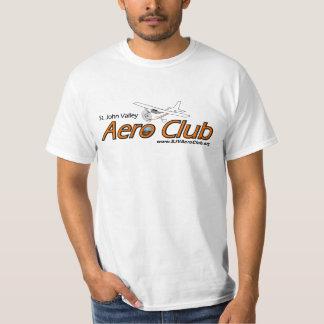 SJV航空機クラブロゴの基本的な白いTシャツ Tシャツ