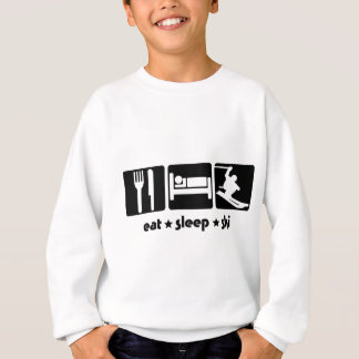 SK02は睡眠SKI.pngを食べます スウェットシャツ