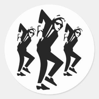 Skaの失礼な男の子の踊り(6/20パック) ラウンドシール