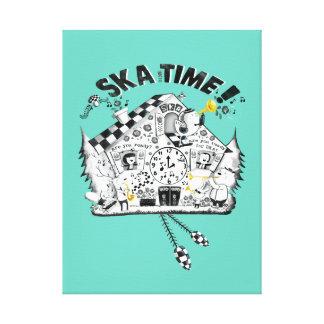 Skaの時間ハト時計 キャンバスプリント